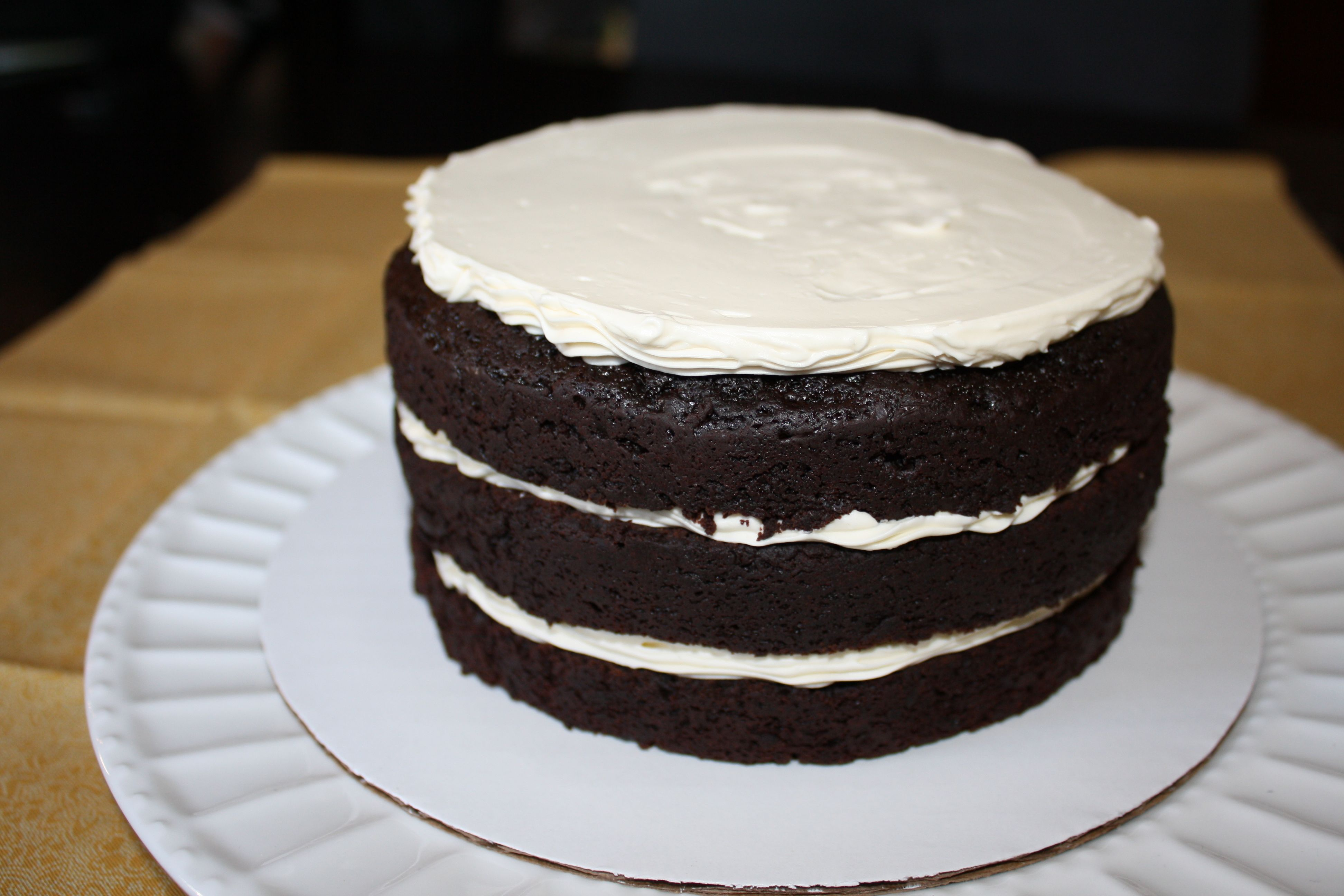 Version number 2 is the lovely double chocolate cake with straight up ...